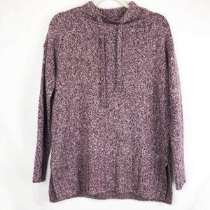 Lou & Grey Burgundy Marled Pullover Sweater XS